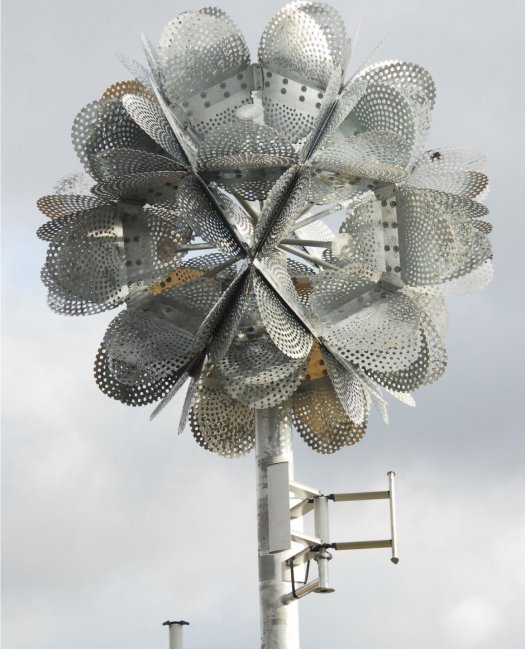 A Wind Powered Giant Metallic Flower