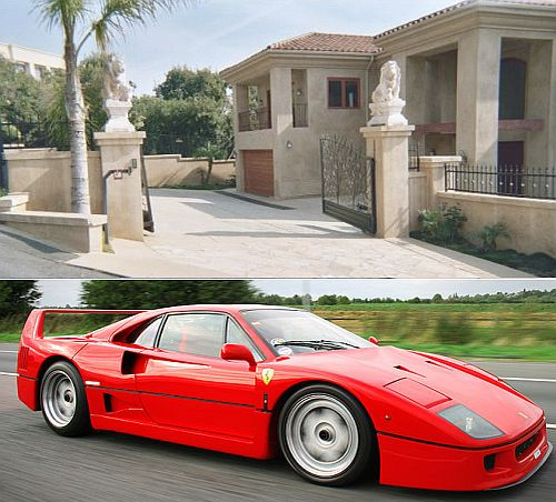 malibu home wiith ferrari